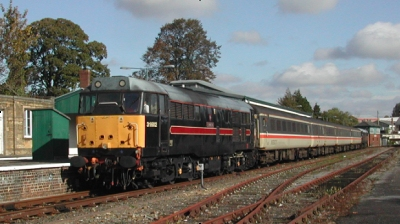 Example train - locomotive and MK 2 coaches
